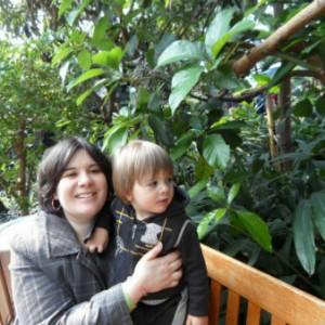 En visite au jardin botanique de Montréal.