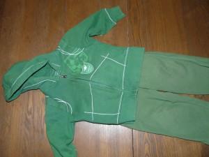 Le kit vert d'Éliott, trois ans et autonome!