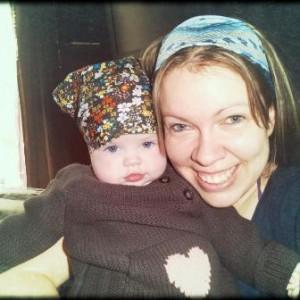 Emmanuelle Courtois avec sa petite Violette