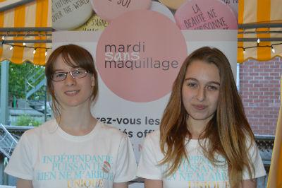 Lili Rose L'Heureux et Alyssia Chartier fondatrices de Mardi sans maquillage