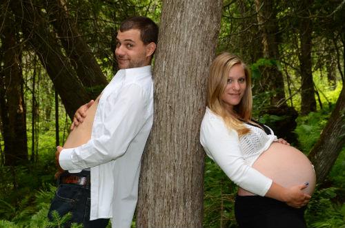 Marie-Christine Trépanier et son conjoint -  9e mois de la grossesse