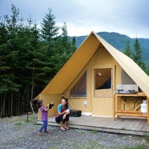 Tente Huttopia Parc National de la Gaspésie, Sépaq-Gaspesie