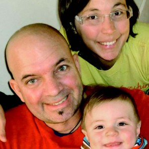 Julie Hamelin, Patrice Noël et Eliott Noël, 7 mois et demi. Crédit photo : Patrice Noël