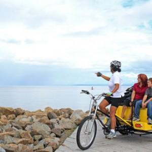 Le vélo-taxi électrique de Charlevoix Éco-mobilité.