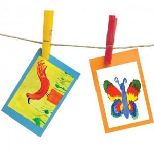 dessin enfant-corde à  linge